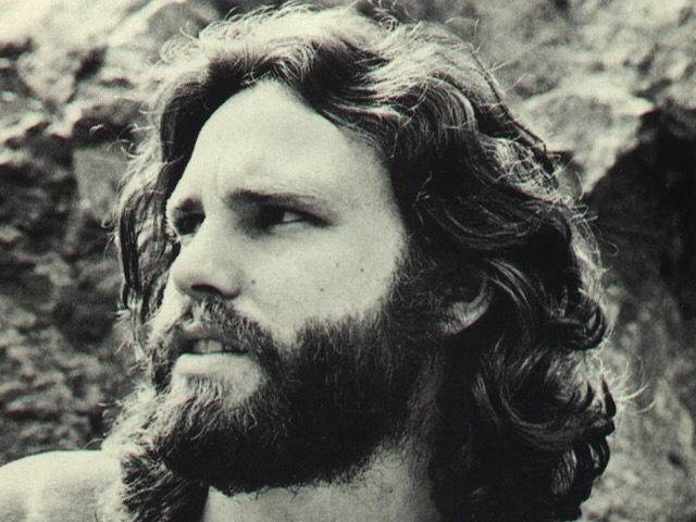 Jim Morrison, lead singer of The Doors, posed at Bronson Caves in Los Angeles, California on March 30, 1969. Photo by Edmund Teske.