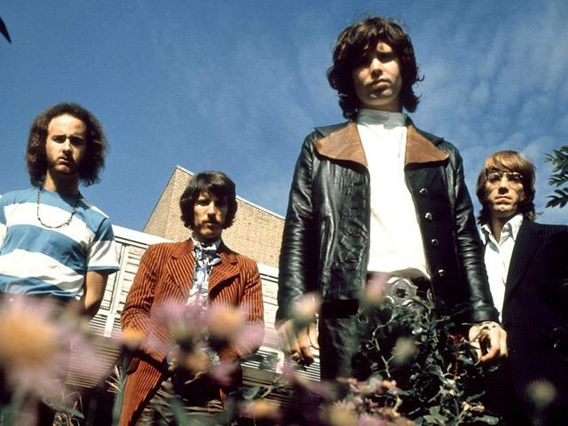 American rock group The Doors posed in Frankfurt, Germany on September 14, 1968. From left: Robby Krieger, John Densmore, Jim Morrison (1943-1971), and Ray Manzarek (1939-2013). Photo by Gunter Zint/K & K Ulf Kruger OHG/Redfern.