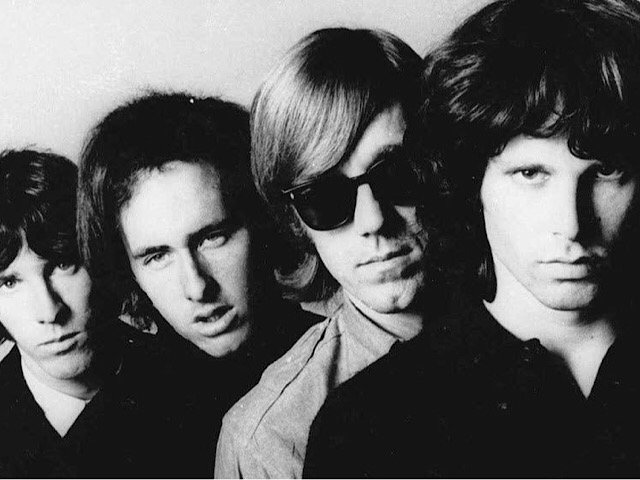 The Doors: John Densmore, Robby Krieger, Ray Manzarek, Jim Morrison (L to R) | Photo courtesy of Wikimedia Commons