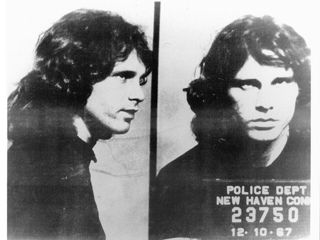 Jim Morrison New Haven Mug Shot
