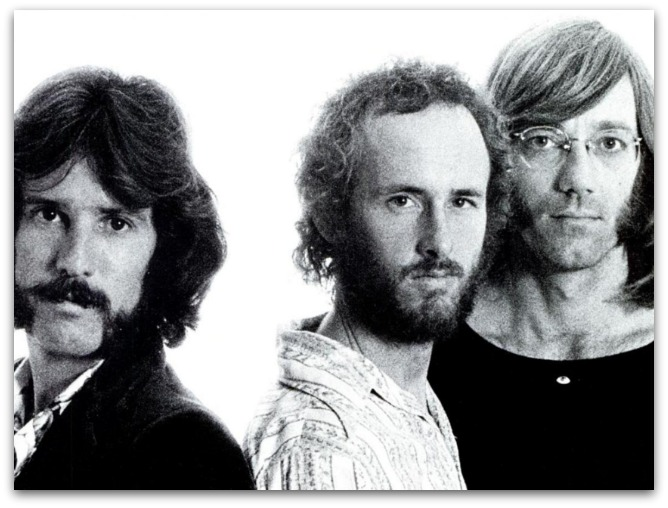 John Densmore (left) in 1971 with Robby Krieger and Ray Manzarek of the Doors