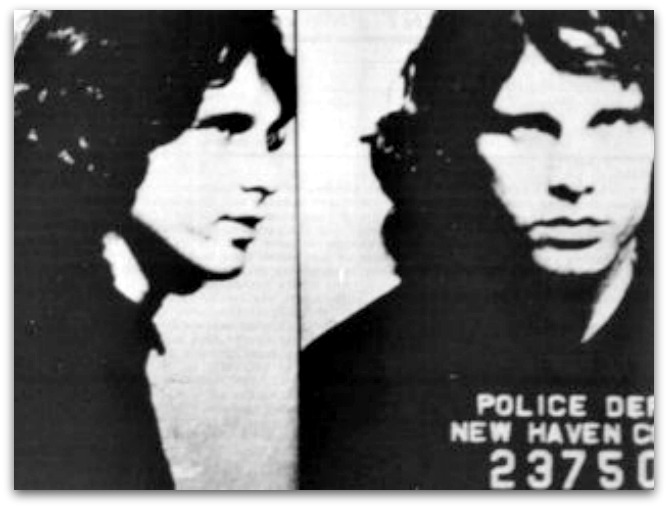 Morrison's mugshot taken in New Haven