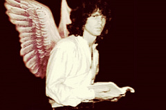 Jim Morrison wearing angel wings